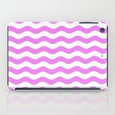 Wavy Stripes (Violet/White) iPad Case