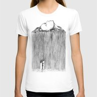 Rain Womens Fitted Tee White X-LARGE