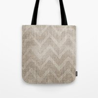 Chevron Burlap (Hessian … Tote Bag
