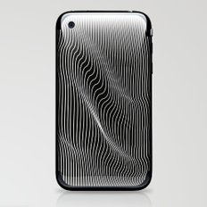 Minimal curves black iPhone & iPod Skin