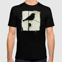 Early Bird - JUSTART © Mens Fitted Tee Black SMALL