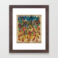 Colorful Conifers Framed Art Print