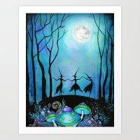 Halloween Dance  Art Print