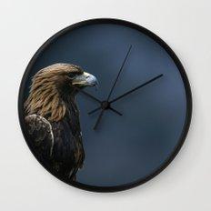 GOLDEN EAGLE PORTRAIT Wall Clock