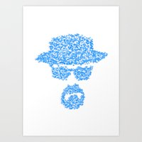 Breaking Blue Art Print