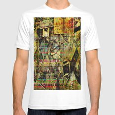 PIECESDETACHEES White SMALL Mens Fitted Tee