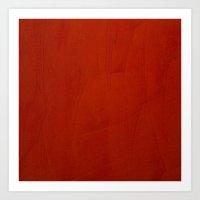 Marsala Crimson Stucco Art Print