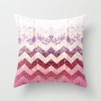 Pink Ruby Case By Zabu Stewart Throw Pillow