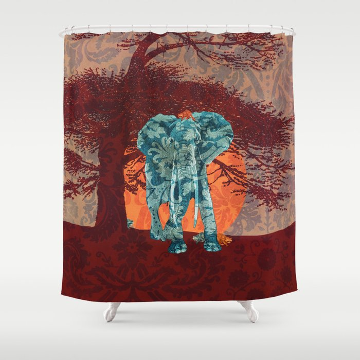 Indian Summer With Raccoons Shower Curtain By Paula Belle