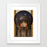 Give me Space (Girl) Framed Art Print