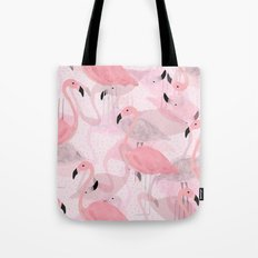 Flamingo Pattern Tote Bag