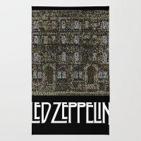 Physical Graffiti. Zeppelin lyrics print. Rug
