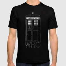 Doctor WHO Black SMALL Mens Fitted Tee