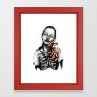 Heartbeats // Illustrati… Framed Art Print