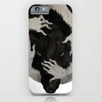 wolf iPhone & iPod Cases featuring Wild Dog by Corinne Reid