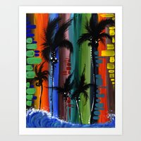 """COLOR IN PARADISE""  Art Print"