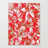 Lovely Leaf Pattern Canvas Print