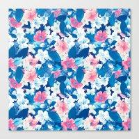 Bloom Blue Canvas Print