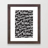 Bonjour Au Revoir Framed Art Print