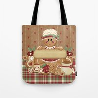 Gingerbread Country Christmas Tote Bag