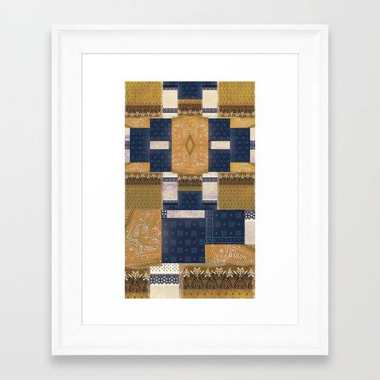Blue Gold Framed Art Print
