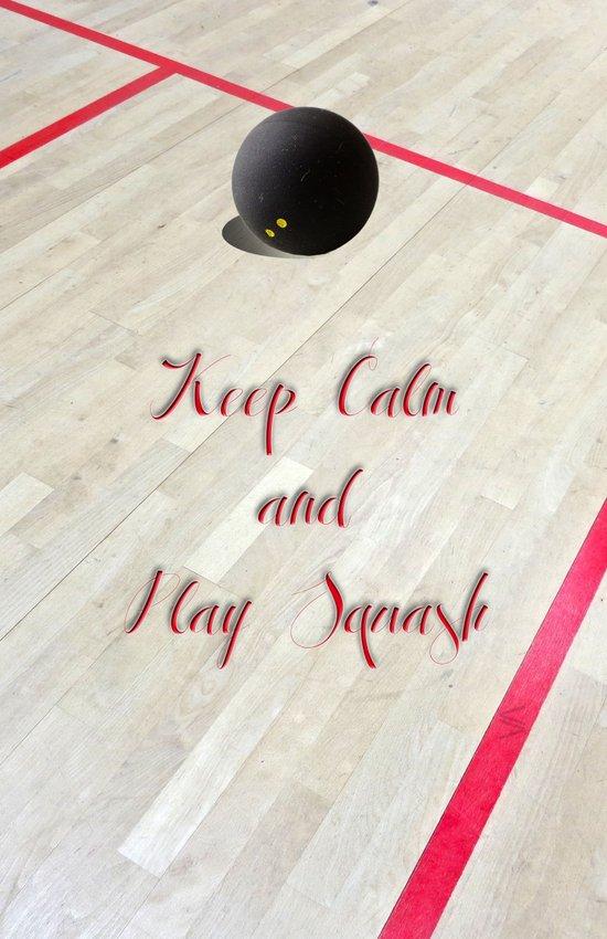 Keep Calm and Play Squash Canvas Print