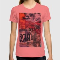 COLLAGE4 Womens Fitted Tee Pomegranate SMALL