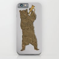 iPhone Cases featuring Bear and Bugle by BearandBugle