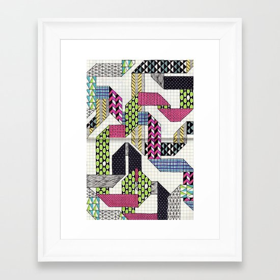 Ribbons with Patterns Framed Art Print