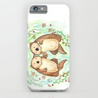 Otters Holding Hands iPhone 6 Slim Case