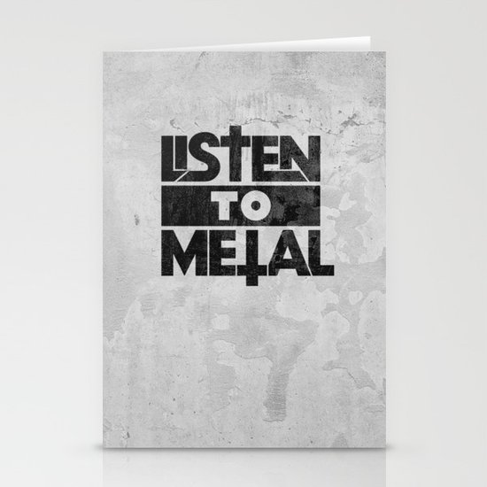 Listen to Metal Stationery Card
