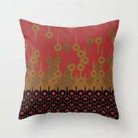 Pattern 1, Red Throw Pillow