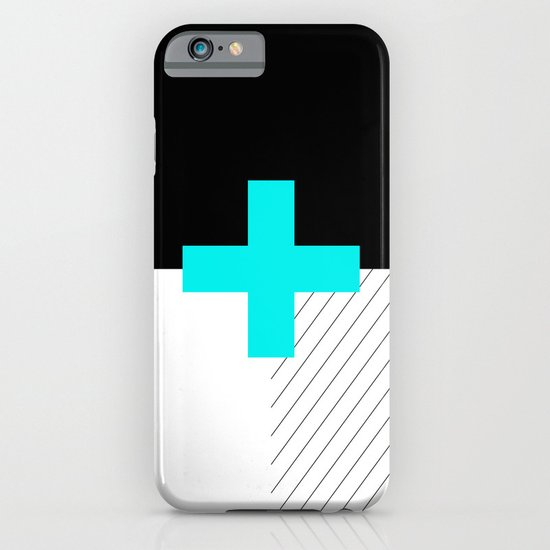 Neon Cross (Blue) // Neon Plus (Blue) iPhone & iPod Case