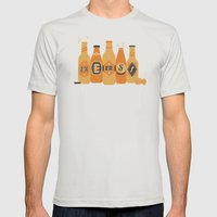 Cheers! Mens Fitted Tee Silver SMALL