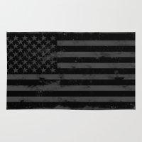 American Brain Flag Rug