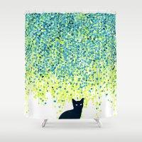 Cat In The Garden Under … Shower Curtain
