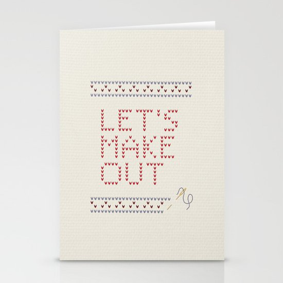 Let's make out Stationery Card