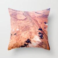 On Sky Seeing The Desert Throw Pillow
