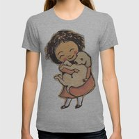 I Love Puppies Womens Fitted Tee Athletic Grey SMALL