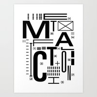 METAL FICTION Art Print