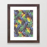 Birds Birds Birds Framed Art Print