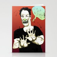Not a Zombie Stationery Cards