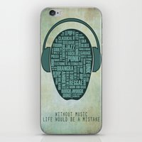 I love music iPhone & iPod Skin