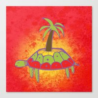 Pacific Turtle Canvas Print