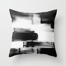 No. 85 Modern abstract black and white painting Throw Pillow