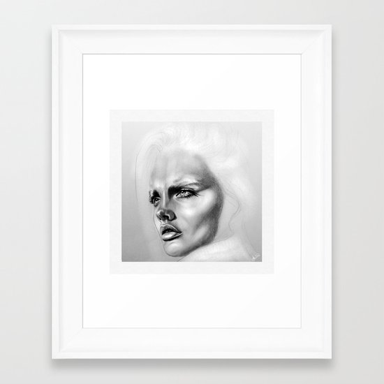 + DEEP + Framed Art Print