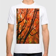 Autumn Tree Mens Fitted Tee Ash Grey SMALL