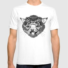 GAT. White Mens Fitted Tee SMALL