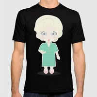 Girls in their Golden Years - Rose Mens Fitted Tee Black SMALL