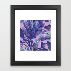 Banana Leaf love Framed Art Print